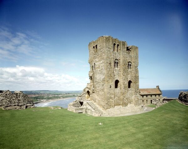SCARBOROUGH CASTLE, North Yorkshire. Henry II's 12th century keep