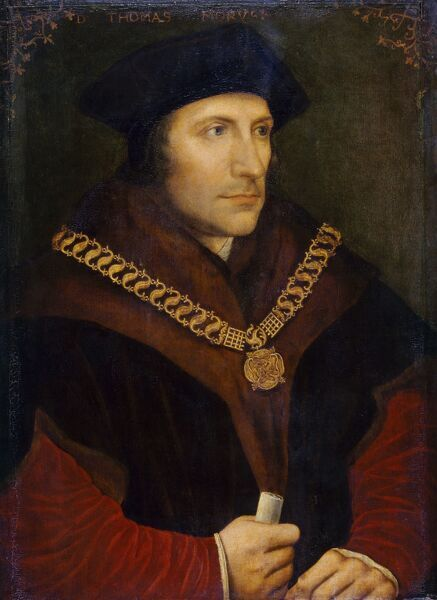 "KENWOOD HOUSE, SUFFOLK COLLECTION, London. "" Sir Thomas More "" c1600 after Hans HOLBEIN THE YOUNGER (1497/8-1543)"