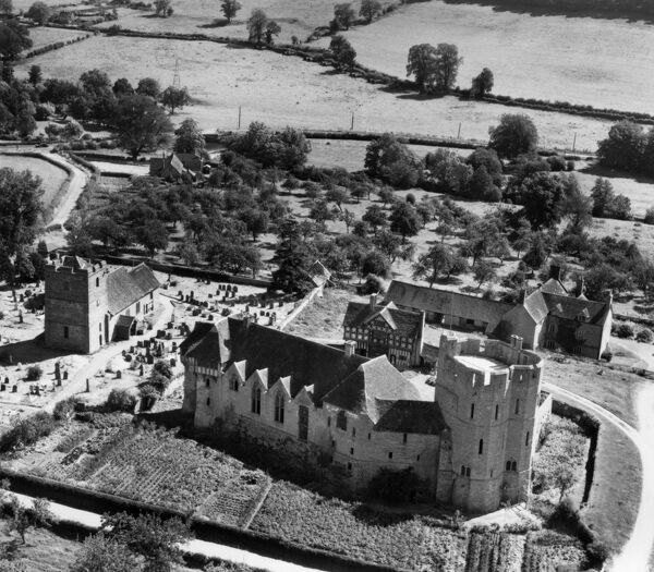 Stokesay Castle, Stokesay, Shropshire. Photographed by Aerofilms Ltd in July 1948