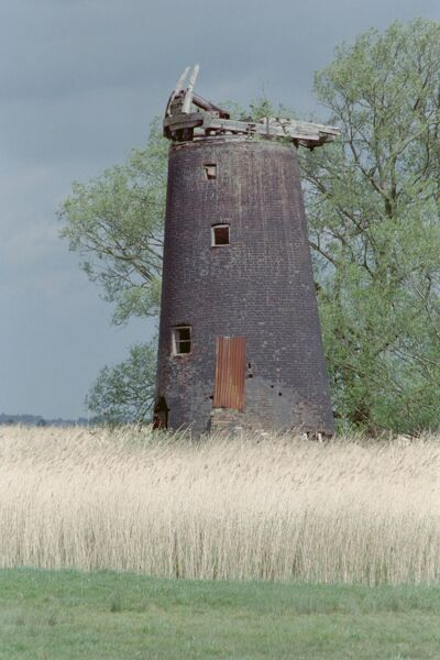 Stones Mill. Derelict windpump, located in Freethorpe, Norfolk. IoE 228604