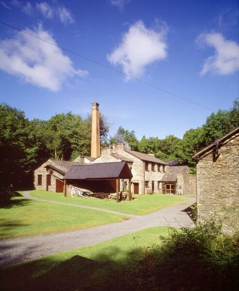 STOTT PARK BOBBIN MILL, Finthswaite, Lakeside, Cumbria. Exterior view from the East