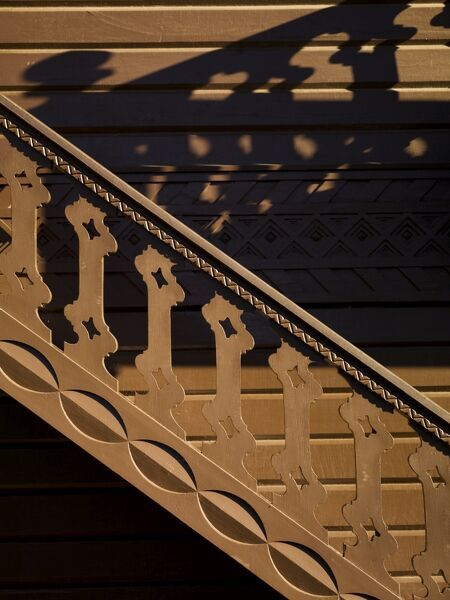 OSBORNE HOUSE, Isle of Wight. Detail of Swiss Cottage stairs