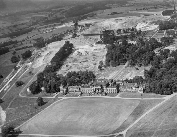 Wentworth Woodhouse, Rotherham, South Yorkshire. Aerial view by Aeropictorial. Aerofilms Collection. August 1946