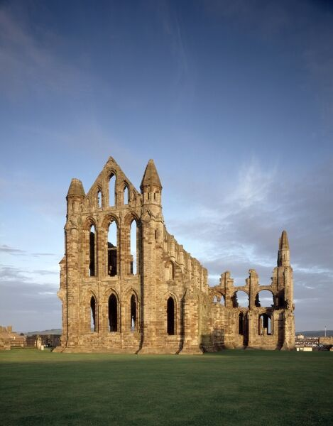 WHITBY ABBEY, North Yorkshire. View from the east