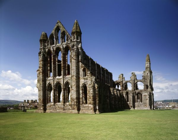 WHITBY ABBEY, North Yorkshire. Exterior view