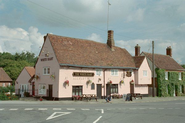 White Hart Inn. Timber-framed public house in Hadleigh, Suffolk. IoE 277623