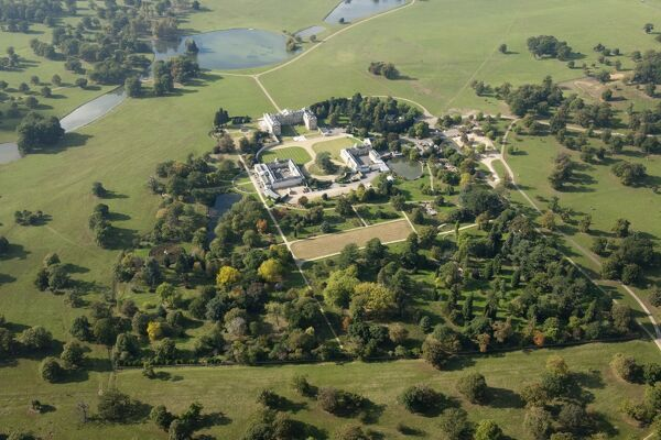 Woburn Abbey, Bedfordshire. The landscape park was designed by Sir Humphrey Repton