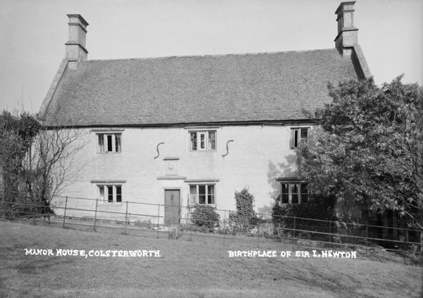 Woolsthorpe Manor House, Newton Way, Colsterworth, Lincolnshire. The birth place of Sir Isaac Newton. Photographed by Alfred Newton and Sons 1896-1920
