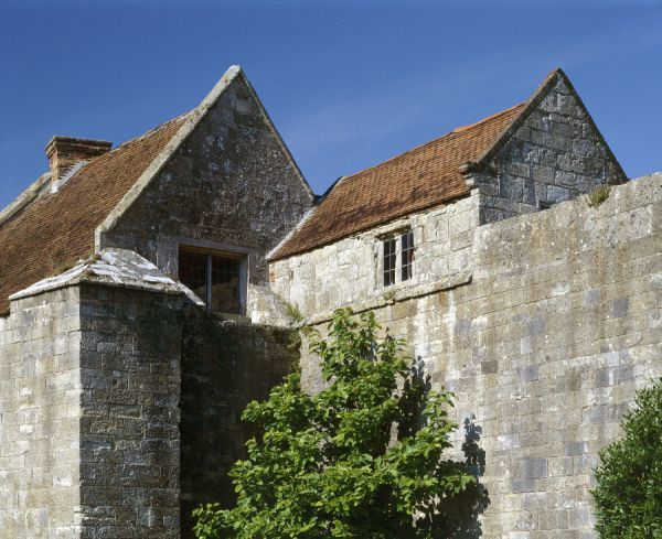 YARMOUTH CASTLE, Isle of Wight. Detailed view of the buildings