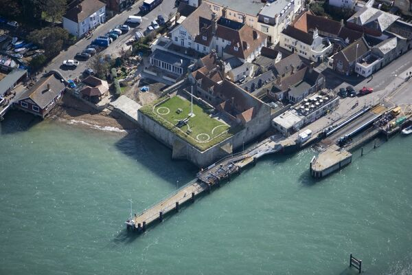YARMOUTH CASTLE, Isle of Wight. Aerial view