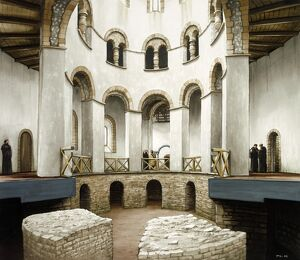 Abbot Wulfric's rotunda at St Augustine's Abbey J000094