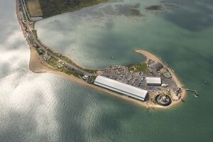 Aerial view of Calshot Castle N071869