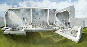 The bath house at Wroxeter Roman City J900037