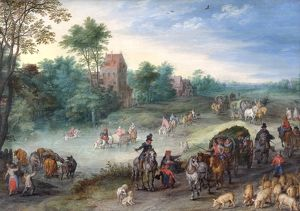 Brueghel - Travellers on a Country road N070590