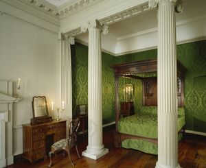 architecture/interiors/countess suffolks bedchamber marble hill house