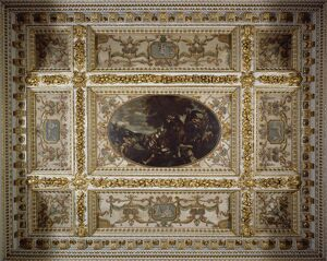 heritage/english stately homes chiswick house interiors/defence scutari gallery ceiling chiswick house