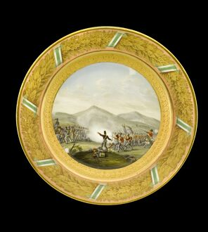 Dessert plate depicting the Battle of Albuera N081121