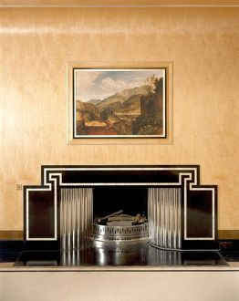 Dining Room fireplace, Eltham Palace J990127