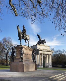Duke of Wellington statue and the Wellington Arch N150037