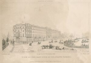 East Side of Belgrave Square, London in 1827 N060024