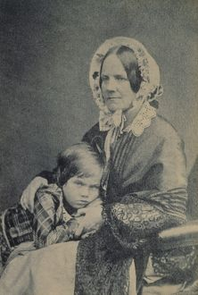 Emma Darwin and son Leonard K970227