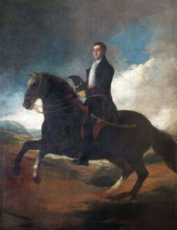 fine art/apsley house paintings/goya equestrian portrait duke wellington n070532