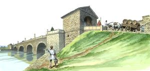 Hadrian's Wall Chesters Bridge Abutment J980130