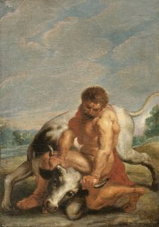 Hercules Wrestling with Achelous in the form of a Bull N090613