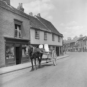 Horse drawn milk float AA98_16568