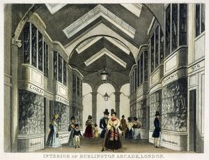 Interior of Burlington Arcade, London c.1830 J000146