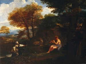 Mola - Landscape with shepherd and shepherdess J920065
