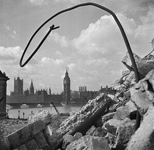Palace of Westminster and debris AA093799
