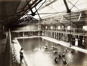 Peoples Palace swimming baths in 1888 BL08718