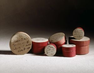 Pill boxes used by Darwin for collecting specimens J970120