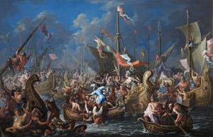 Platzer - Anthony & Cleopatra..Battle of Actium N070473