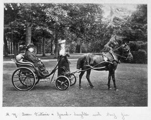 Queen Victoria and grand-daughter with pony Jim D880020a