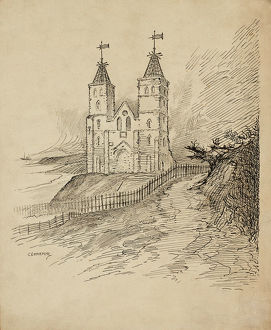 fine art/illustrations engravings c g harper illustrations/reculver towers cgh01 01 0304