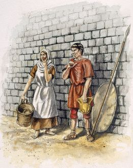 Roman man and woman J030115