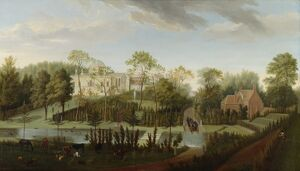 Rysbrack - A View of Chiswick House K070015