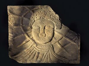 Stone carving of Sol N080063
