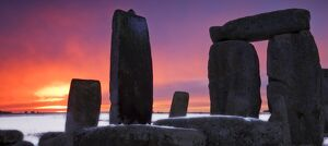 Stonehenge at sunset N081236