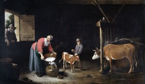 Teniers - Interior of a Cowshed N070676