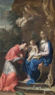 Trevisani - The Virgin and Child with St Carlo Borromeo N070580