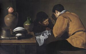 Velazquez - Two Young Men Eating at a Humble Table N070556