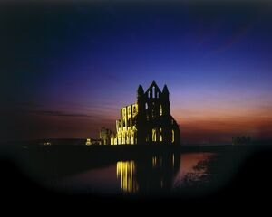 Whitby Abbey at night N070034
