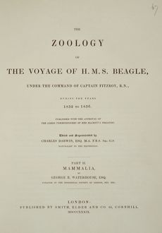 Zoology of the Voyage of HMS Beagle J970097